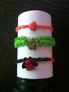 rainbow loom with charms
