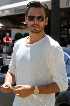 Scott Disick hangs out with a friend at Il Pastaio in Beverly Hills.jpg