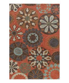 Another great find on #zulily! Terra Cotta Sand Dollar Rug by Momeni Rugs #zulilyfinds