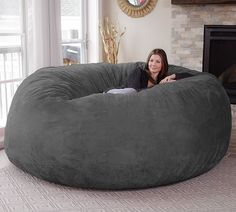 Giant Bean Bag Chair Big enough for even the largest families! CHECK IT OUT Made of Millions | Discover Cool Stuff, Cool Gifts & Gift Ideas.