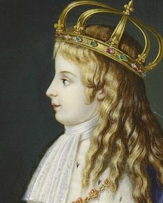 vivelareine:  Detail of a painting of Louis XVII (or Louis Charles, son of Louis XVI) given to Albert Edward, Prince of wales in 1862.