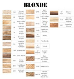 Blonde Hair Color Chart | Full hair color charts for blondes , brunettes and frosty hair colors.