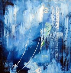Blue Abstract Painting by NeilR1