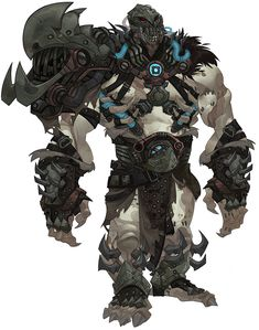 i like that the character has a big prescence and the style of armour used shows that it means buisness
