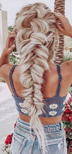 Hello Hair, Fancy Hairstyles, Braided Hairstyles, Fashion Hairstyles, Easy Braid Styles, Short Hair Styles, Natural Hair Styles, Pull Through Braid, Long Hair Extensions