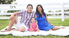 Family | Iliasis Muniz Photography Family photography, navy blue and pink outfits, family outfits, white picket fence photos, baby girl with blue eyes,