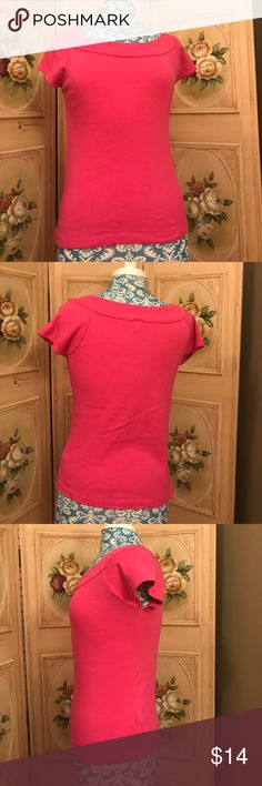 "Small Pink Knit Top Good used condition too that is pretty pink in color. Size Small by Rafaella Bust 16"" Rafaella Tops Blouses"