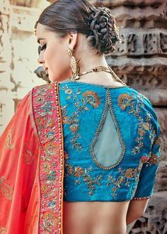 Orange Banarasi Silk All Over Woven Lehenga Choli with Embroidered Border Bridal Lehenga Choli, Silk Lehenga, Silk Dupatta, Embroidered Clothes, Embroidered Silk, Deepika Padukone Style, Saree Blouse Neck Designs, Simple Sarees, Special Occasion Outfits