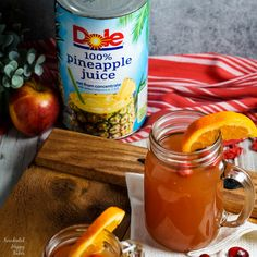 Old Fashioned Wassail takes apple juice, cranberry juice, pineapple juice, and spices and transforms them into the ultimate winter warm-you-up drink! Apple Recipes, Crockpot Recipes, Holiday Recipes, Cooking Recipes, Party Recipes, Christmas Recipes, Apple Cider Recipe With Apple Juice, Apple Cider Drink, Dole Pineapple Juice