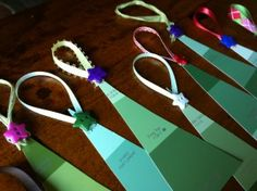 paint chip christmas tree gift tags from #paintcutpaste.com
