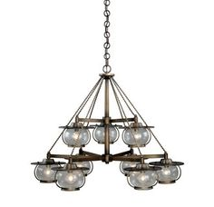 View the Vaxcel Lighting H0028 Jamestown 9 Light Two Tier Chandelier at Build.com.