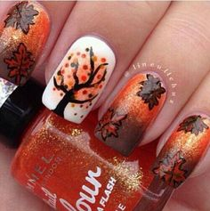 Fall nails!! I love these for november