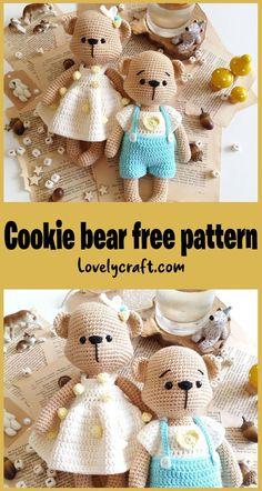 Crochet Angel Pattern, Crochet Teddy Bear Pattern, Knitted Teddy Bear, Crochet Baby Toys, Crochet Unicorn, Crochet Amigurumi Free Patterns, Free Crochet, Teddy Bears, Knitted Dolls