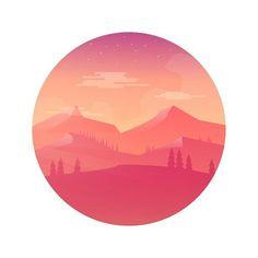 By @glssmnn - Yew! Illustrationzz. . Tag #designarf to featured! . #digital #art #artwork #flat #design #graphics #adobe #illustrator #photoshop #illustration #landscape #mountains #hills #trees #stars #clouds #orange #pink #yellow #comic-style #comic #flatdesign #circle #white #gradiant #vector #picoftheday by designarf