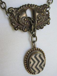Vintage Hardware Necklace by ConfettiStyle Designs--Etsy Shop
