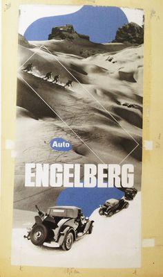 Herbert Matter - Winter Sport with the Car, Engleberg, 1933