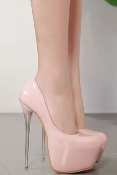 I really need these Pink Leather Round Toe Platform Stiletto Ombre High Heel Pumps Hot High Heels, High Heels Stilettos, High Heel Boots, Stiletto Pumps, Prom Heels, Wedding Heels, Platform Stilettos, Fashion Heels, Woman Fashion