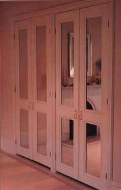 Simple but elegant mirrored closet doors.