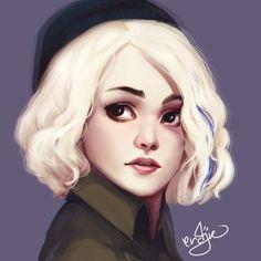 Riley Blue by ERDJIE