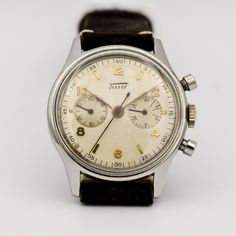 Tissot ref. Vintage Watches, Chronograph, Markers, Numbers, Hands, Stainless Steel, Gold, Accessories, Sharpies