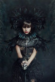 Warrior Princess Warrior Princess, Dark Fairytale, Weird Fashion, Her Style, Portrait Photography, Pictures, Image, Feathers, Costume