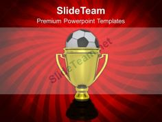 Golden Winner Trophy With Soccer Ball Powerpoint Templates PPT Themes And Graphics 0113 PowerPoint