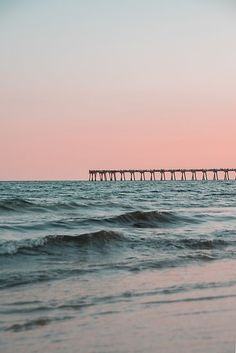 'Pink Sky with Boardwalk Along the Ocean' Photographic Print by Claire Andrews Pensacola Beach, Beach Images, Beach Pictures, Photo Wall Collage, Picture Wall, Beach Pink, Beach Babe, Ways To Travel, Travel Tips