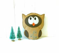 Stuffed Owl PATTERN // Sew by Hand Plush Felt Stuffed Animal PDF // Easy to Make // Instant Download