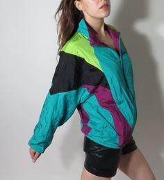 Etsy の Vintage Adidas Trefoil Neon Windbreaker M by JustGiza Vintage Windbreaker, Vintage Adidas, Fall 2016, Rain Jacket, Neon, Jackets, Etsy, Fashion, Raincoat