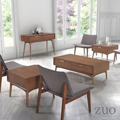 Slender shapes and clean lines in rubberwood define the Little Havana Chair's comfort and look. #occassionalchair #zuomodern  http://www.allmodernoutlet.com/zuo-modern-little-havana-occasional-chair-flint-gray-100018