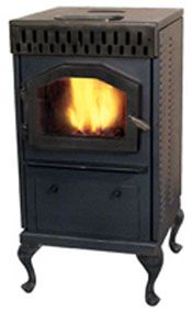 Home :: Stoves :: Biomass / Corn / Multi-fuel Stoves :: Magnum Baby Countryside Biomass, Corn, Wood Pellet Stove - BC-AC Accent Furniture, Rustic Furniture, Furniture Decor, Wood Pellet Stoves, Multi Fuel Stove, Wood Pellets, Cabin Homes, Hearth, Metal Working