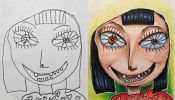 Creative Dad Colors In His Kids' Drawings, Makes Surprisingly Awesome Art - DesignTAXI.com