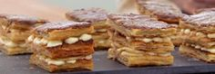 Holly Bell's Banoffee Millefeuilles with Chocolate and Caramel Icing