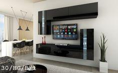 1 x 2 Cabinets wide / high / deep), 1 x 4 Cabinets wide / high / deep) warranty for quality-related issues Rattan Furniture, Home Decor Furniture, Living Room Sets, Living Room Modern, Tv Wanddekor, Tv Cabinet Design, Modern Tv Units, Rack Tv, Diy Zimmer