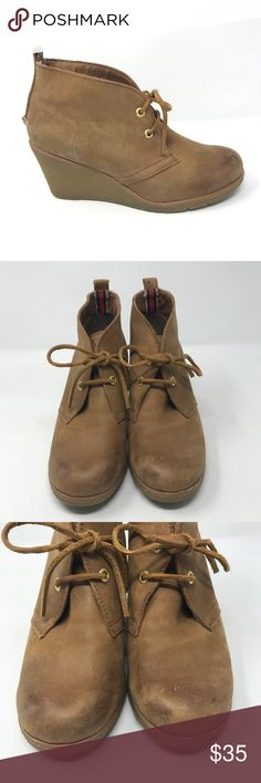 d34387055e2 Sperry Top-Sider Harlow Tan Burnished WedgeBooties Sperry Top-Sider Womens Size  7 US