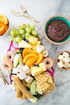A Delicious Chocolate Fondue Platter - Sugar and Charm - sweet recipes - entertaining tips - lifestyle inspiration