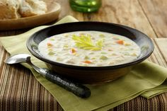 This Clam and Corn Chowder recipe that is thickened with mashed potatoes is sure to fill and take off the chill.