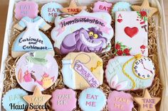 Alice in Wonderland Tea - cookie collection from Haute Sweets via Cookie Connection. (Inspiration)
