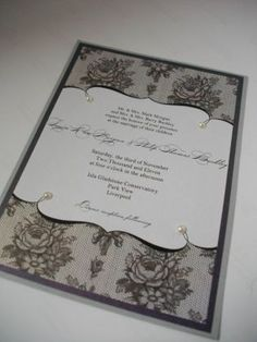Vintage-Wedding-Invitations 2011 would be relatively easy to replicate DIY styles, pearls could even be replaced with diamantes for extra sparkle!