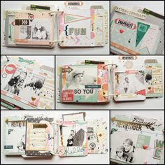 Vacation 2013 #minialbum by MonaGee made with #GossamerBlue #kits