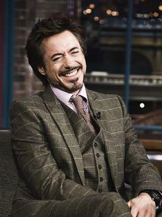 Robert Downey Jr in some very dapper purple.