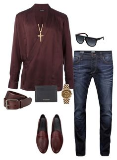 """""""Untitled #51"""" by beverlyclm on Polyvore featuring Galet, Jack & Jones, Balmain, Palm Beach Jewelry, Versace, Burberry, Carrera, men's fashion and menswear"""