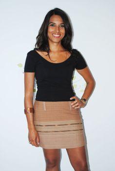 Tribal Horizontal Cotton  Aline Mini Skirt by Navaiyara on Etsy, €15.00