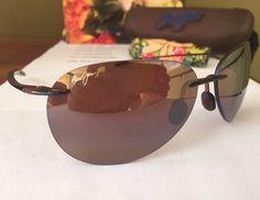 NEW Maui Jim Sunglasses Sugar Beach HCL Bronze Polarized Lens H421-26 #MauiJim #SugarBeach