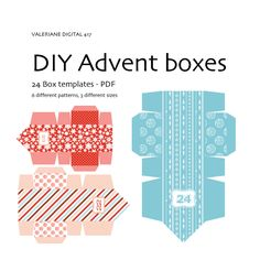 Printable Advent calendar - 24 DIY templates - INSTANT Download Pack 417