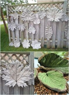 große Blätter als Gussformen fürs Projekt verwenden