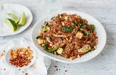 This easy pad Thai recipe can be made in under 30 minutes fora healthy family dinner. For more Thai recipes, head to Tesco Real Food.