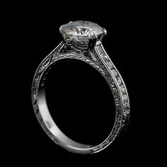 Moissanite Vintage Style French Cut Princess Diamond by OroSpot, $2499.00