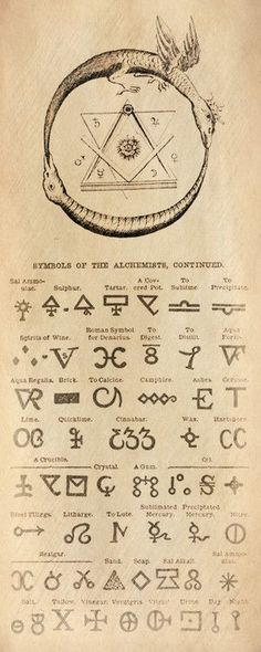 Symbols of the Alchemists / Sacred Geometry <3: