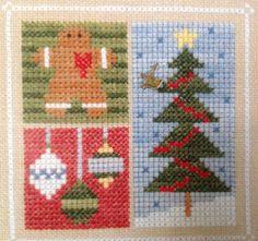 Lizzie Kate December Blocks Christmas Tree Cookie Flip It Cross Stitch Chart F33